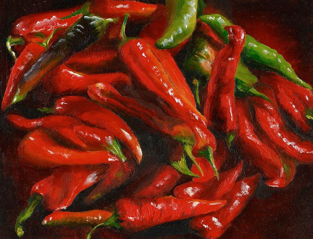 """Chilli Peppers"" original fine art by Karen Robinson"