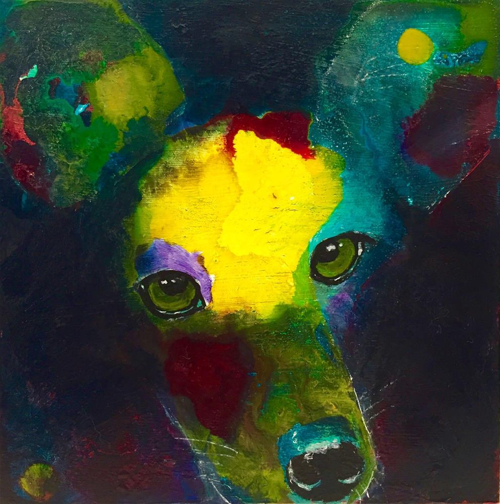 """#41 From the Dark"" original fine art by Silke Powers"