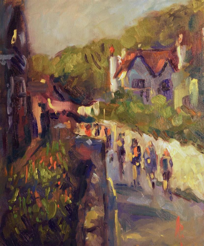 """""""Road to Lulworth Cove"""" original fine art by Andre Pallat"""