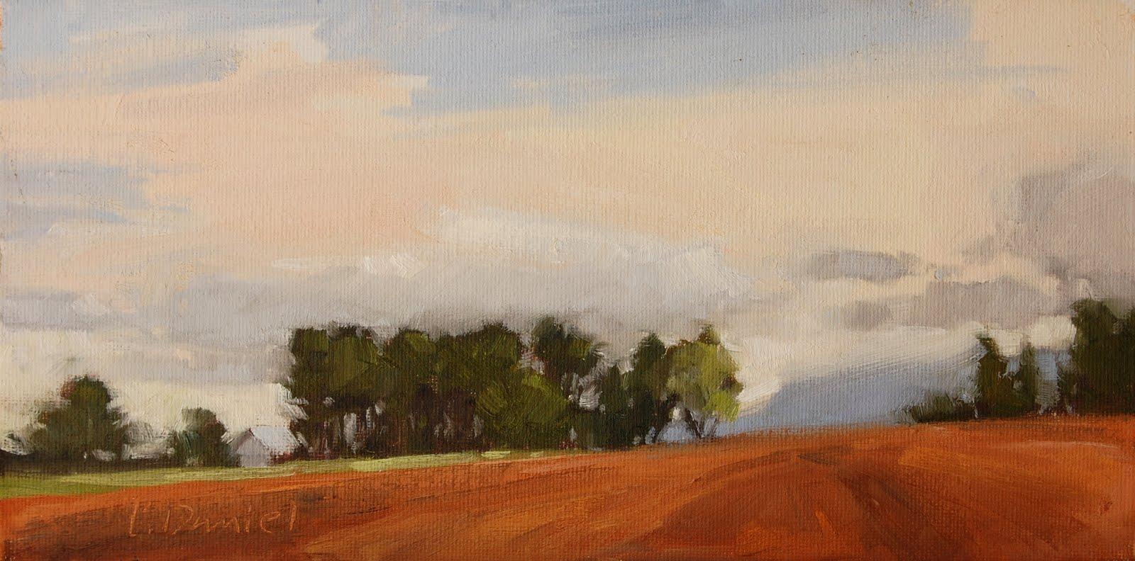 """Farmer's Field - Adirondack Trip (last)"" original fine art by Laurel Daniel"