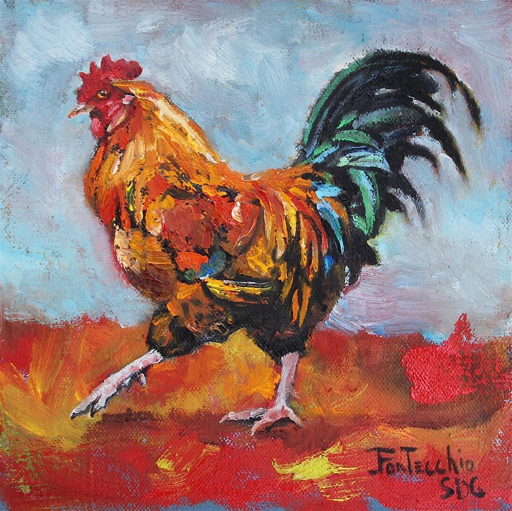 """""""Strut"""" original fine art by Jan Fontecchio"""