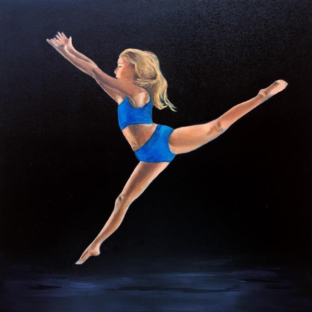 """Ella in Flight"" original fine art by Dicksie McDaniel"