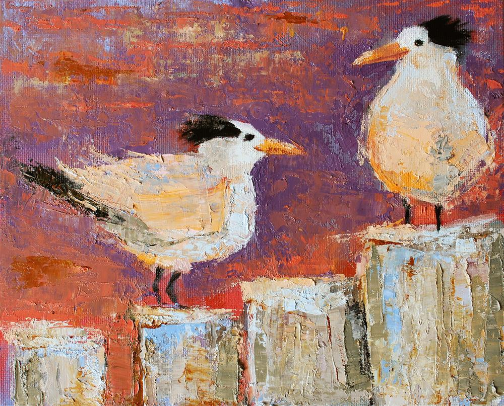 """""""Hanging At The Wharf"""" original fine art by Sarah Buell Dowling"""