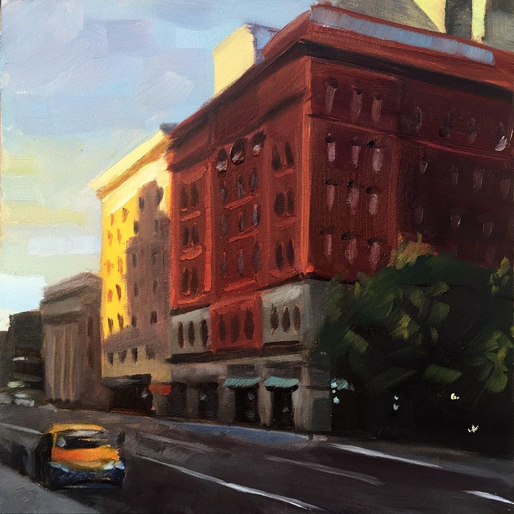 """""""Portland Twilight"""" original fine art by Elizabeth Dawn Johnston"""