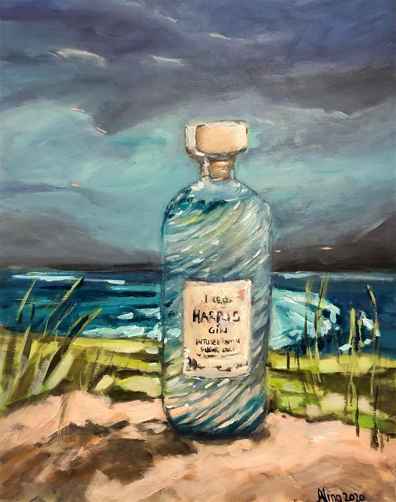 """Harris Gin"" original fine art by Alina Vidulescu"