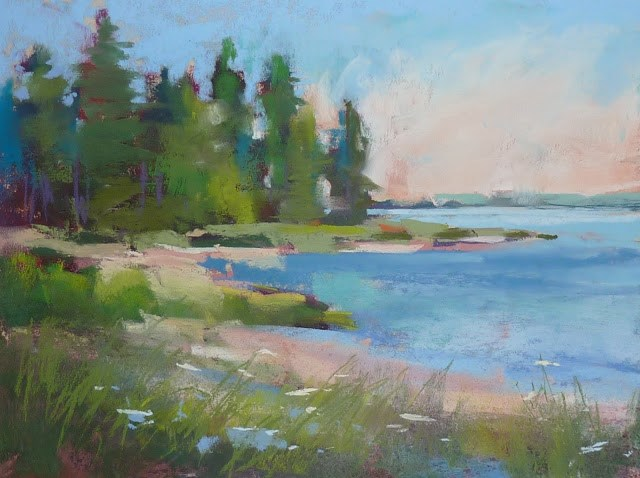 """""""From Small to Large....Painting Big Pastels"""" original fine art by Karen Margulis"""