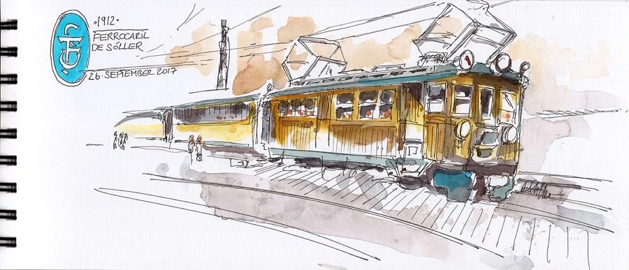 """2234 Slow Train Coming"" original fine art by Dietmar Stiller"