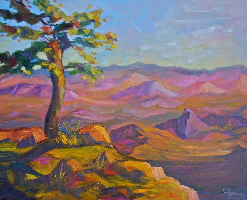 """Big Bend Twilight"" original fine art by Liz Zornes"