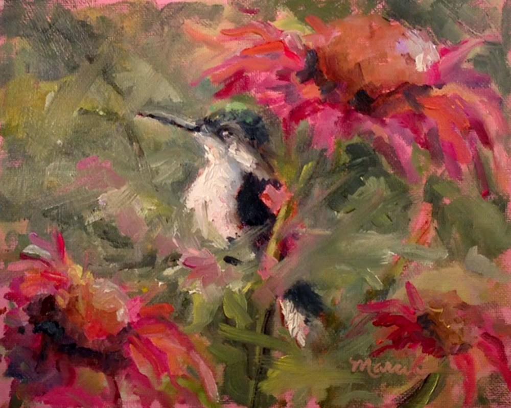 """Hiding in the Cornflowers"" original fine art by Marcia Hodges"