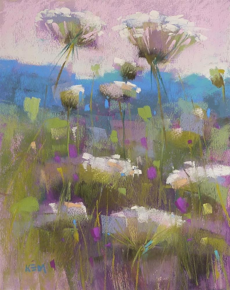 """Painting a Meadow...New Series"" original fine art by Karen Margulis"