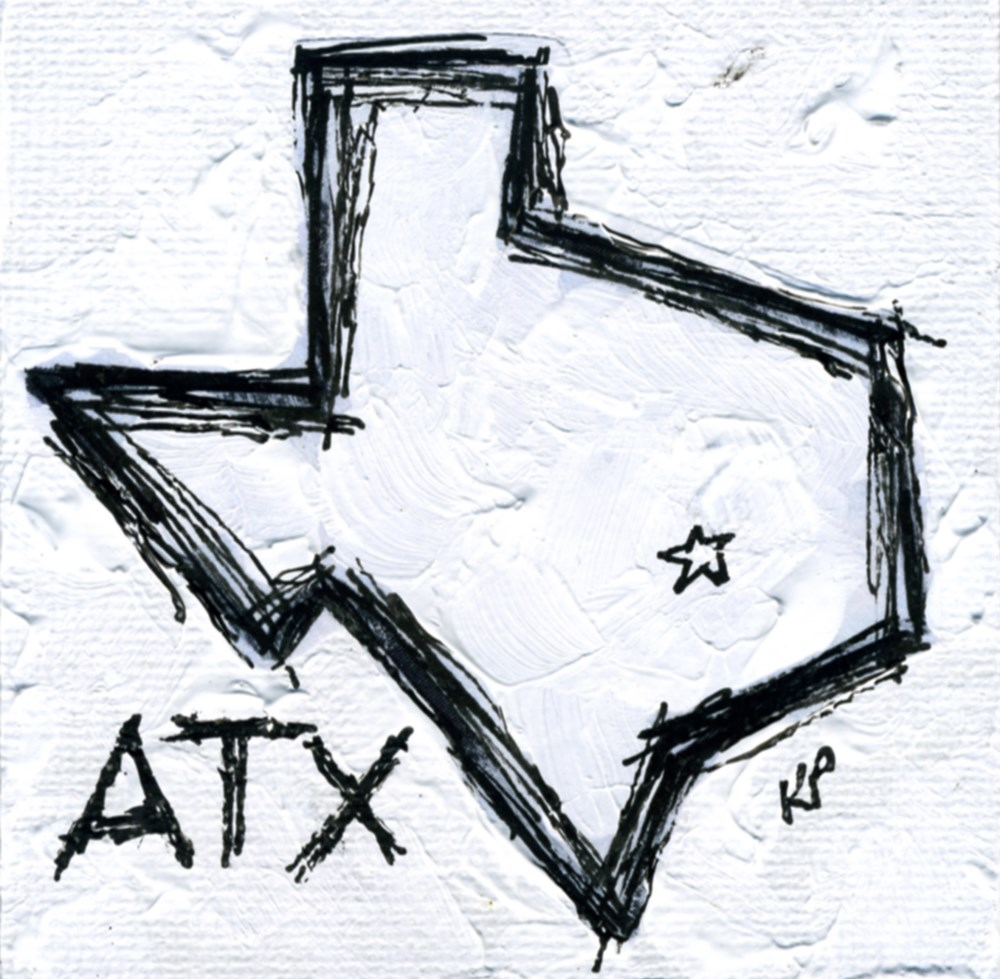 """ATX"" original fine art by Kali Parsons"