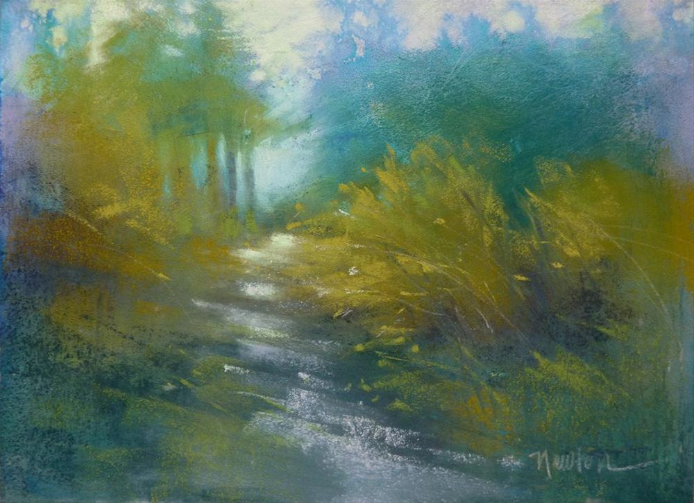 """Woodland Path"" original fine art by Barbara Benedetti Newton"