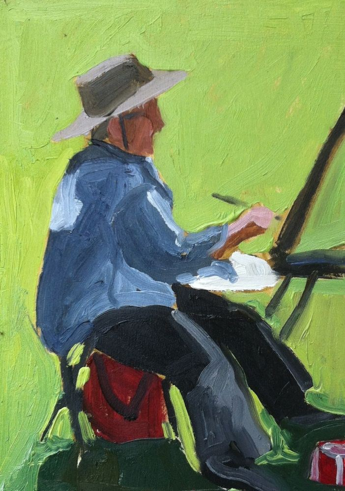 """""""Painting Bonny Painting, oil on board, 6x6"""" original fine art by Darlene Young"""