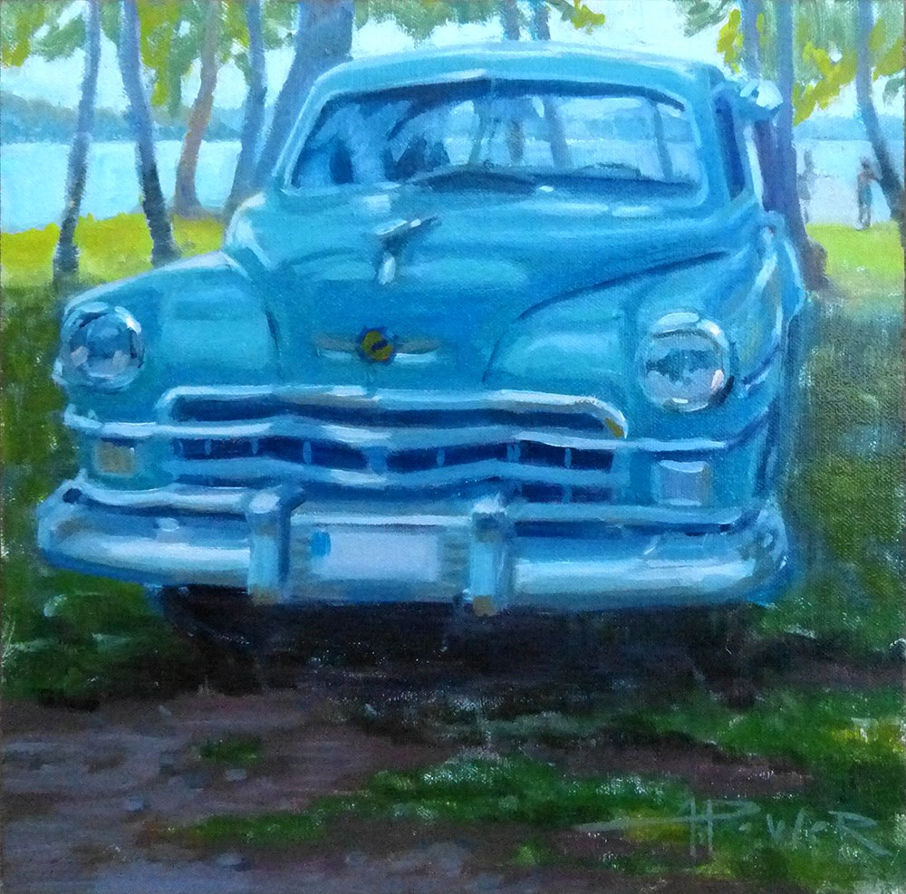 """""""Car Sketching - 17 of 30 - Swedish Car Show"""" original fine art by Anette Power"""