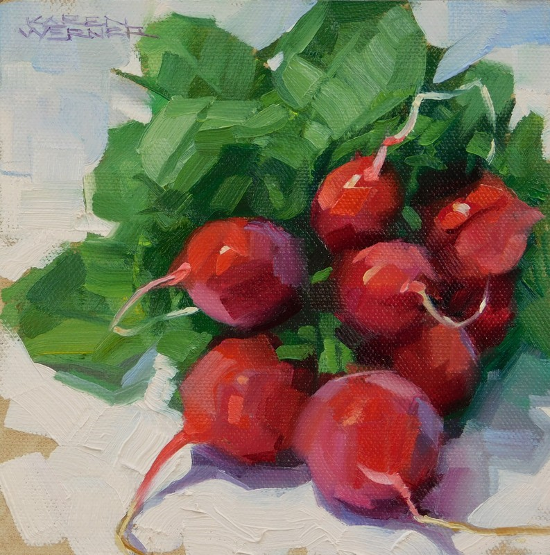 """Lovely Radishes"" original fine art by Karen Werner"