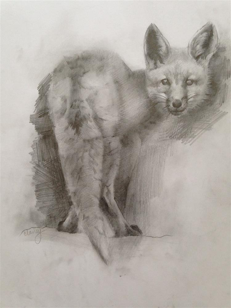 """Feeling Foxy"" original fine art by Catherine Clancy"