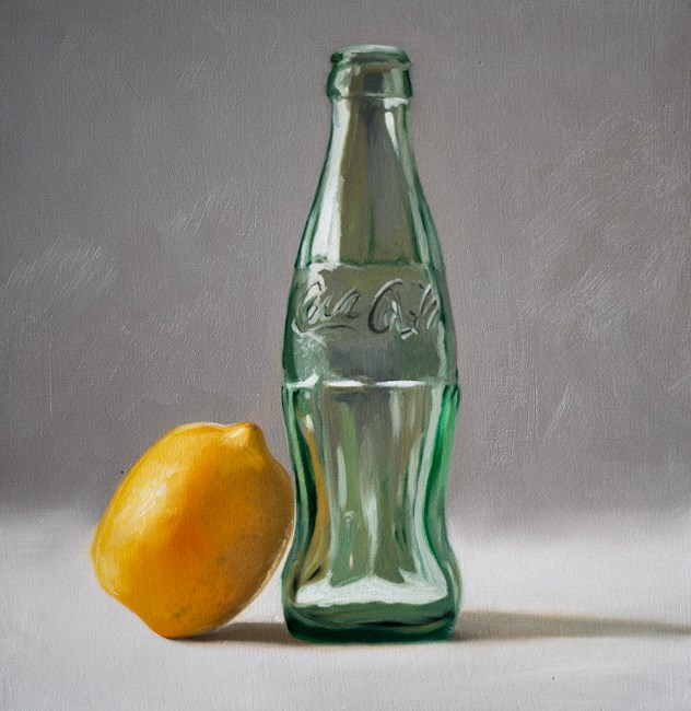 """Lemon Coca Cola"" original fine art by Lauren Pretorius"