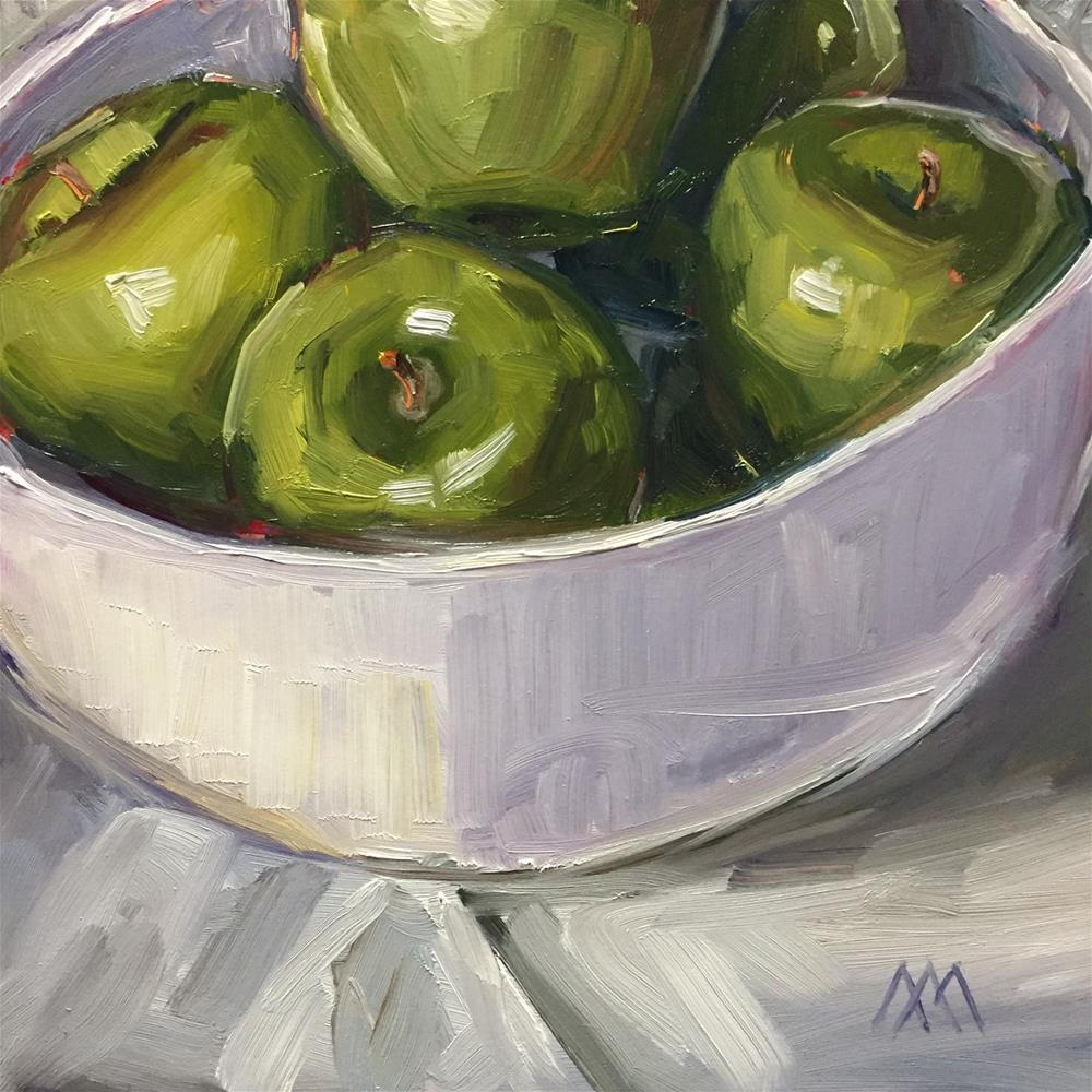"""Bowl of Apples"" original fine art by Austin Maloney"