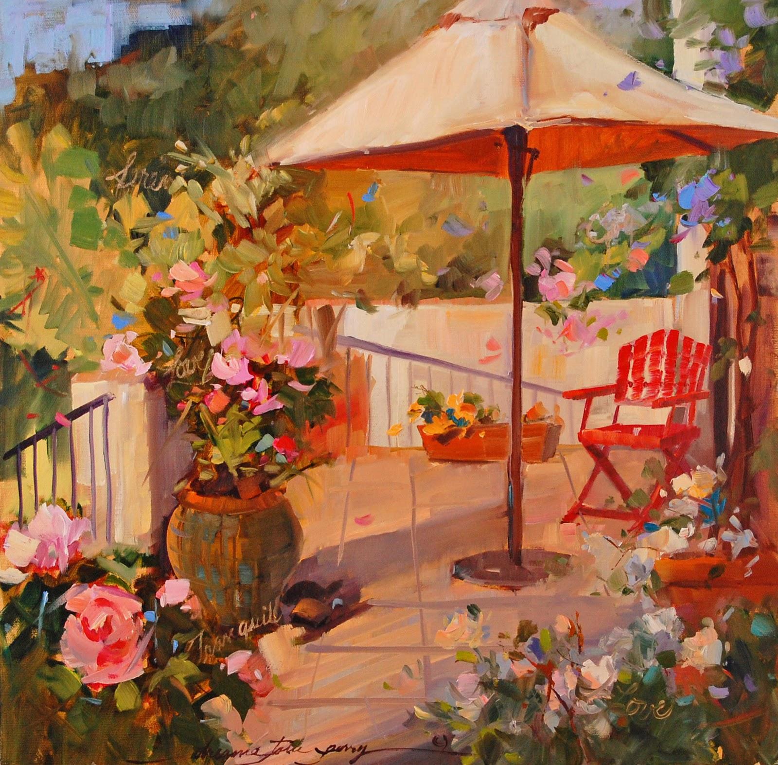 """A Little Bit of Paris in France?"" original fine art by Dreama Tolle Perry"