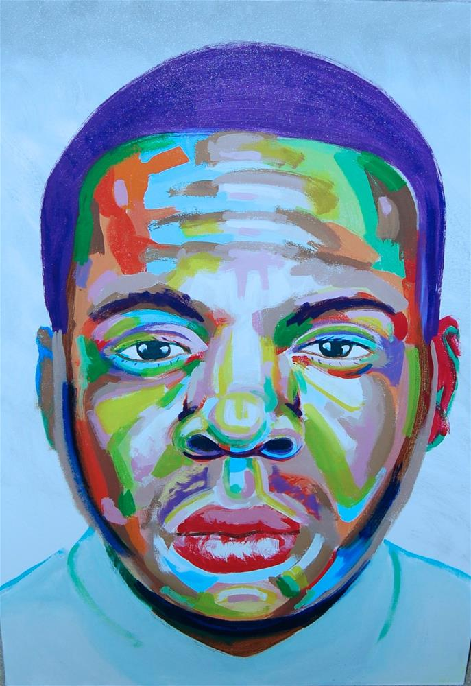"""Jay-z (color contact 8)"" original fine art by michael vigneux"