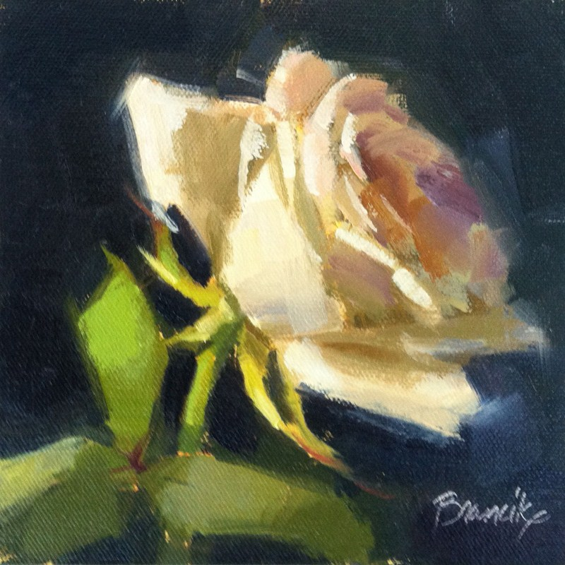 """""""Rose Study 2"""" original fine art by Candace Brancik"""