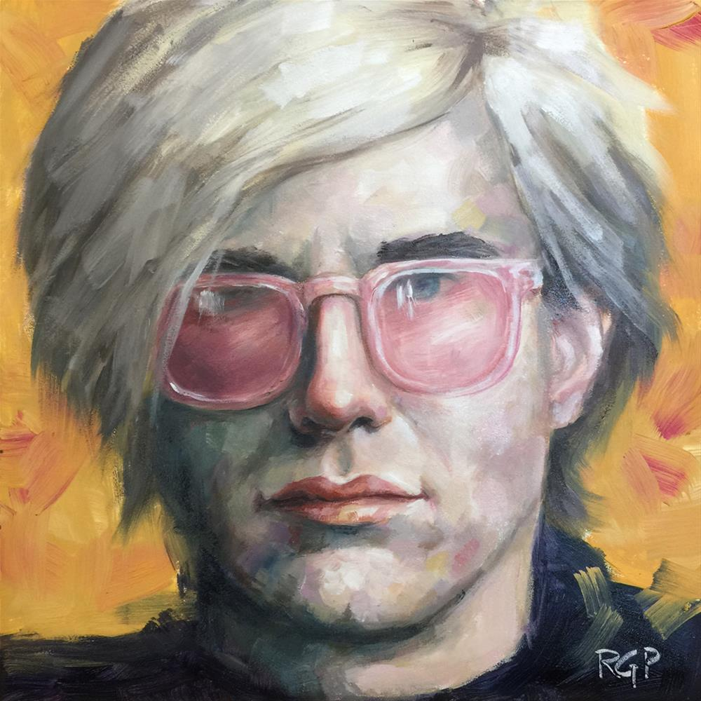 """Andy Warhol"" original fine art by Rhea  Groepper Pettit"