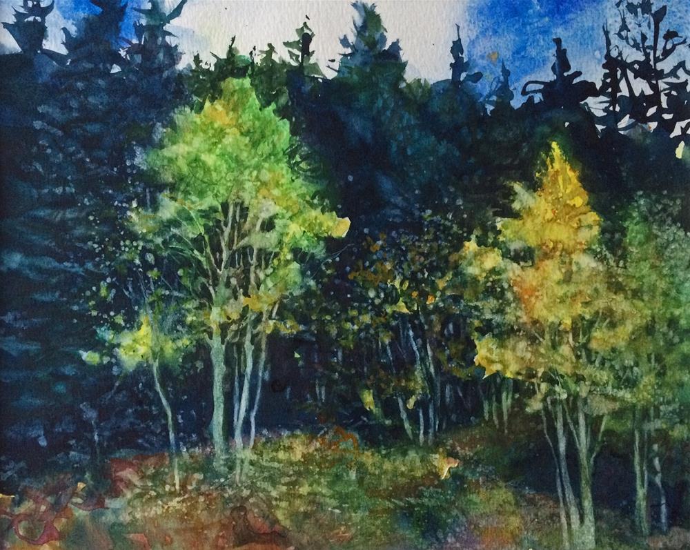 """""""Forest Gold &Green"""" original fine art by Nicoletta Baumeister"""