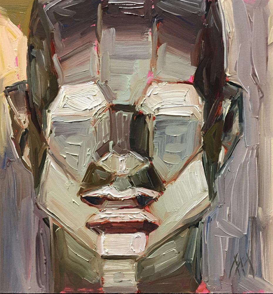 """Asaro Head Study 3"" original fine art by Austin Maloney"