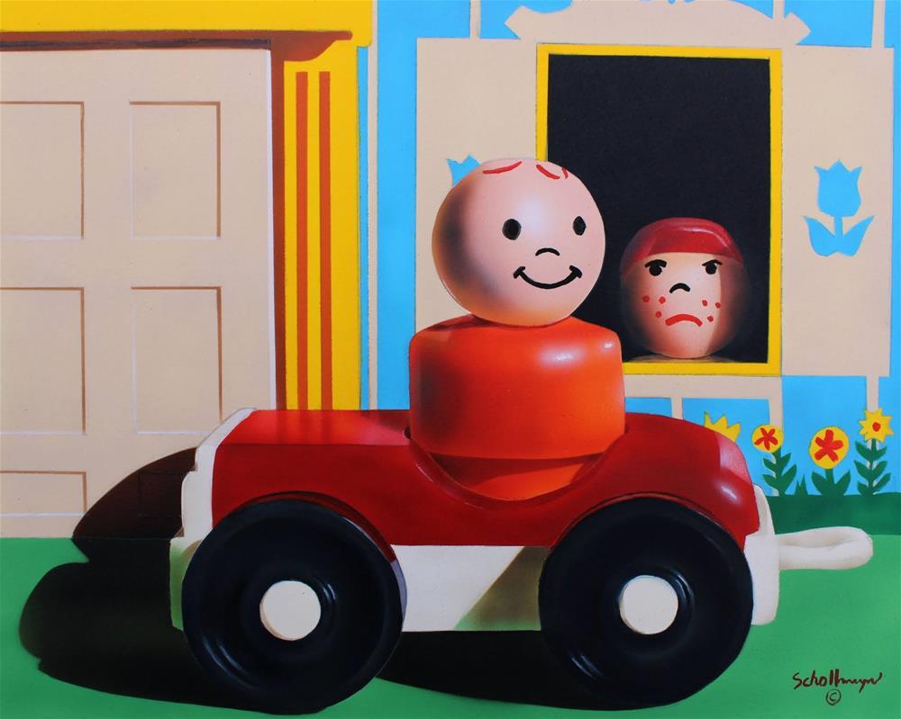 """""""Self-Quarantine Is A Bummer"""" original fine art by Fred Schollmeyer"""