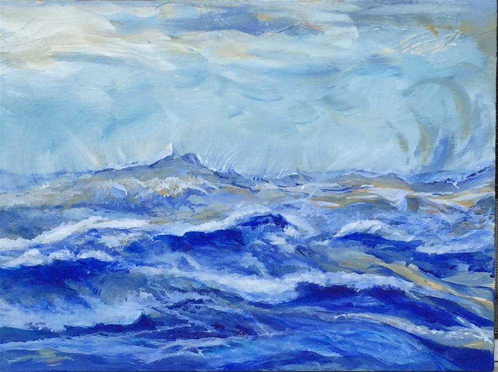 """Blue on Blue Fantasy Surf"" original fine art by Michael Mikottis"