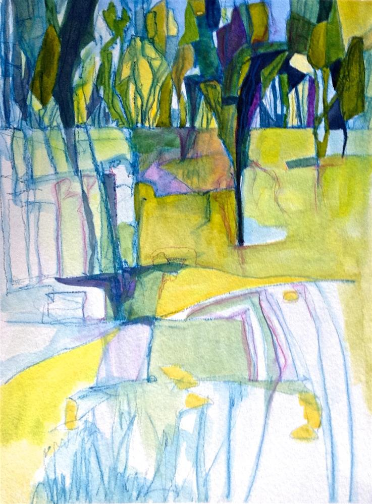 """Meadow Abstraction"" original fine art by Patricia MacDonald"