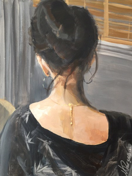 """French Twist"" original fine art by Mary Pargas"