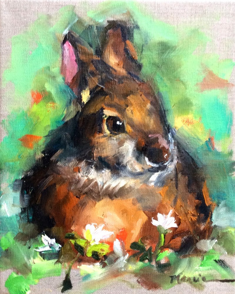 """Chocolate Bunny Rabbit"" original fine art by Marcia Hodges"