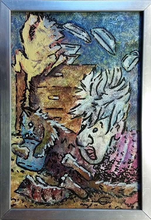 """Cat Chaos"" original fine art by Gabriella DeLamater"
