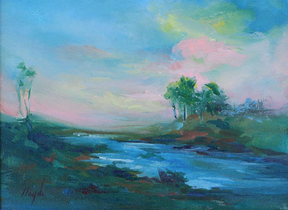 """Pink Sky"" original fine art by Diane Lloyd"