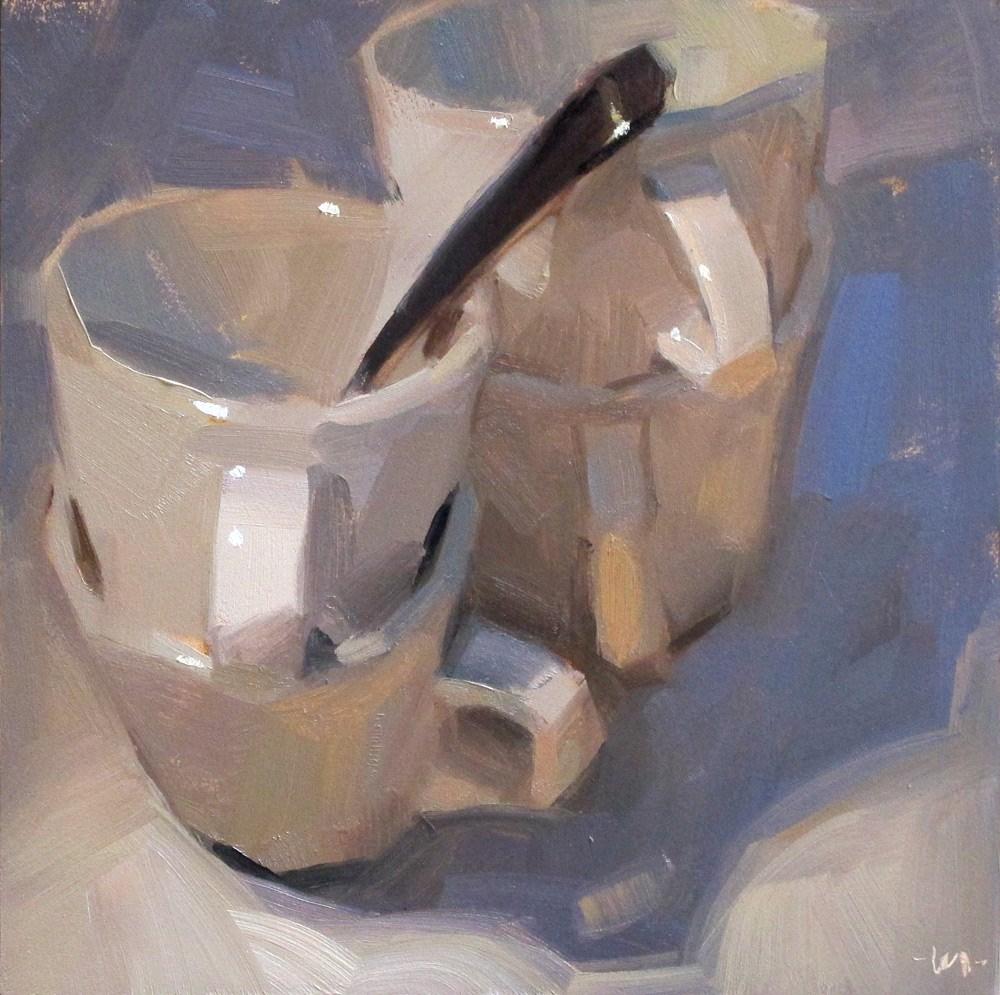 """The Many Shades of White"" original fine art by Carol Marine"