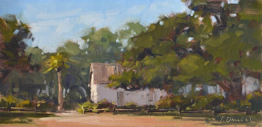 """""""Cottage Entrance"""" original fine art by Laurel Daniel"""