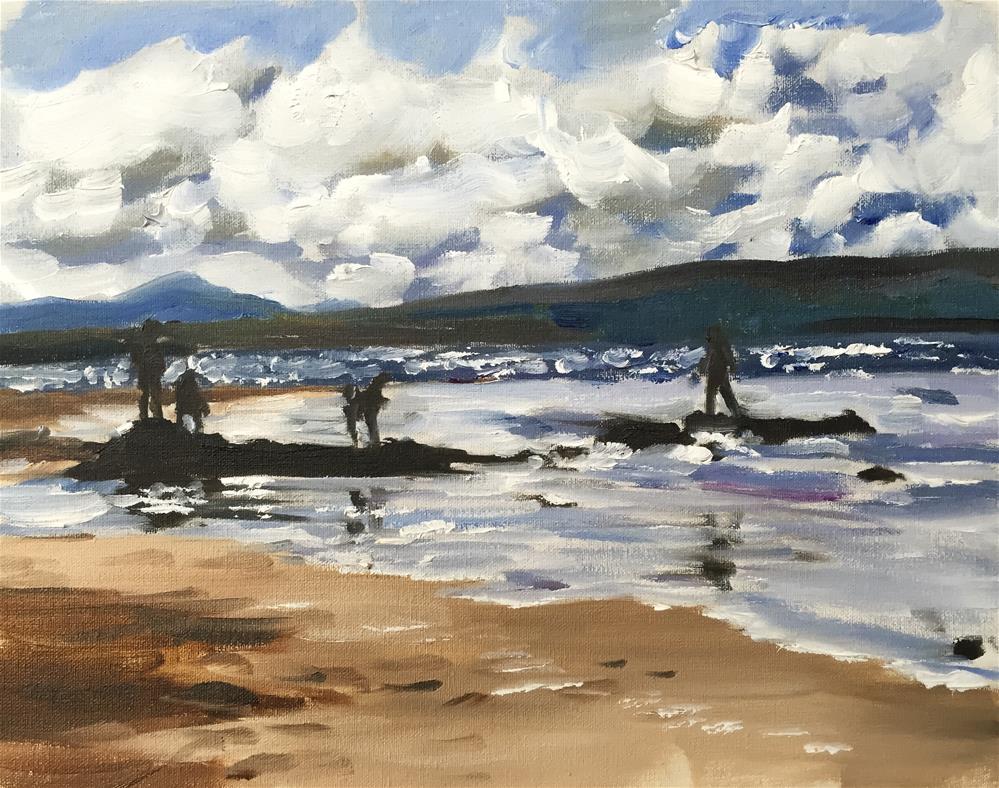 """Beach Scene"" original fine art by James Coates"