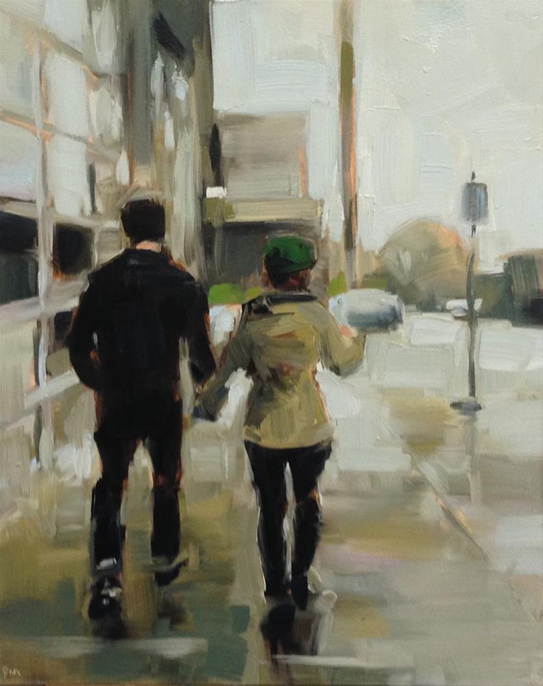 """Portland Black and Brown"" original fine art by Patti McNutt"