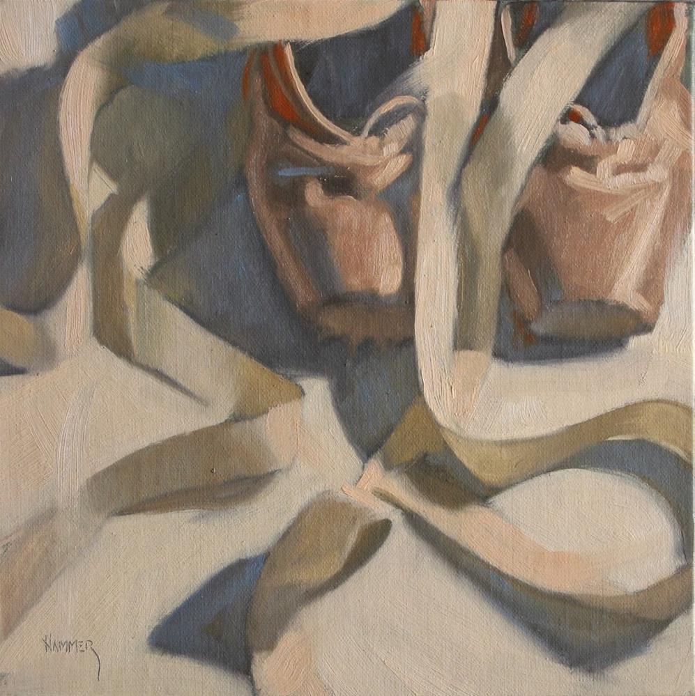 """Side by side 8x8  oil"" original fine art by Claudia Hammer"