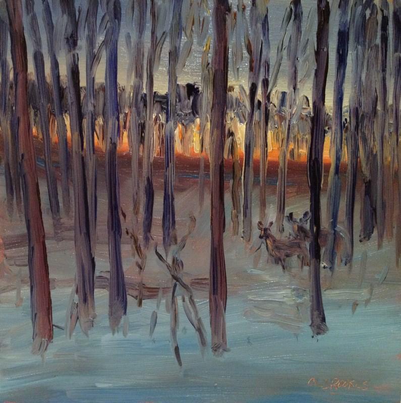 """Winter Woods III, Day 96"" original fine art by Claudia L Brookes"