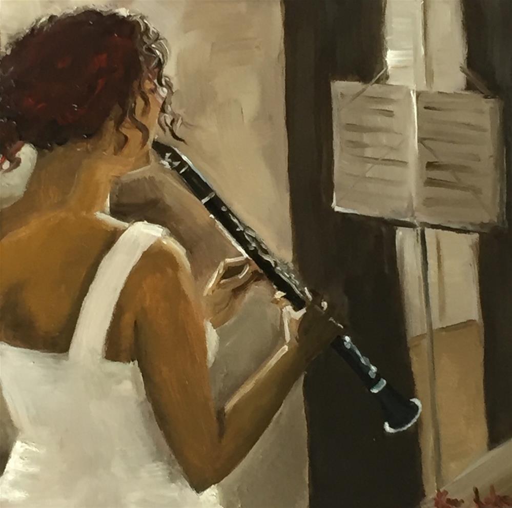 """""""Practise makes perfect"""" original fine art by Karen Laken"""