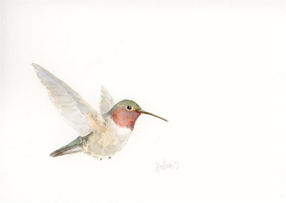 """Hummingbird Study II"" original fine art by Susanne Billings"