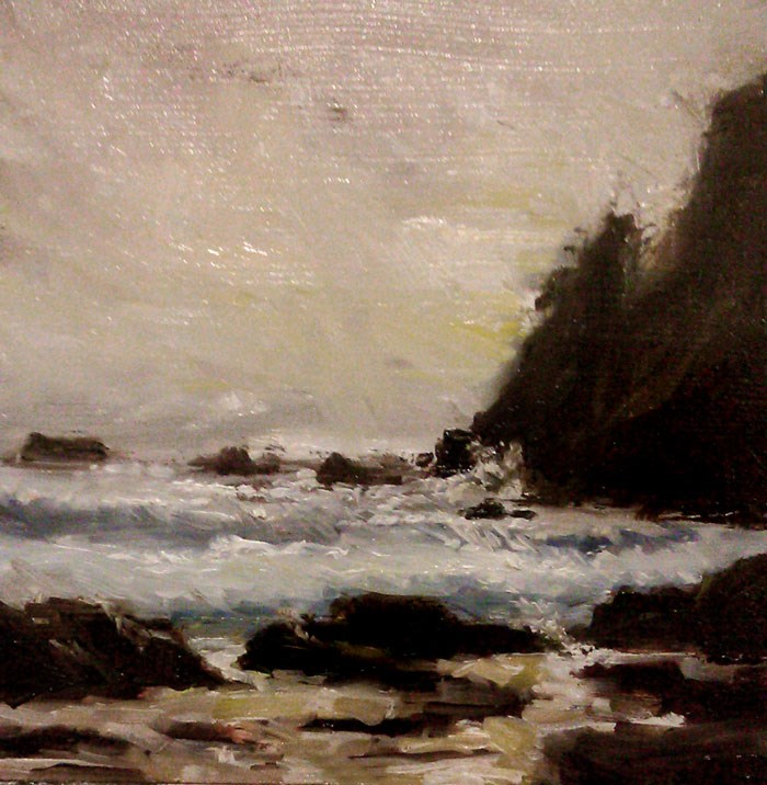 """Coastal Rocks"" original fine art by Bob Kimball"