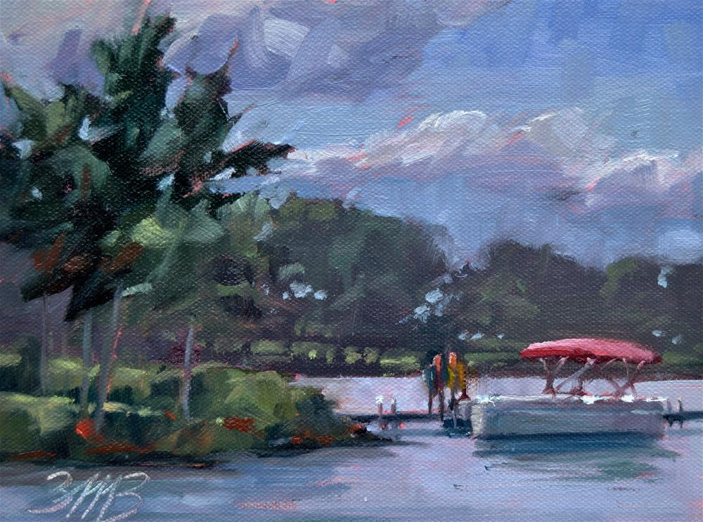 """""""A Day on the Lake"""" original fine art by Brienne M Brown"""