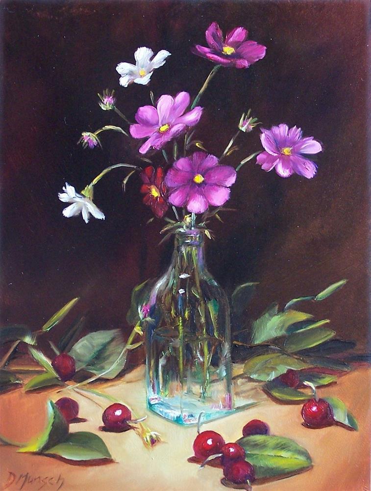 """""""Cosmos Wild Flowers"""" original fine art by Donna Munsch"""