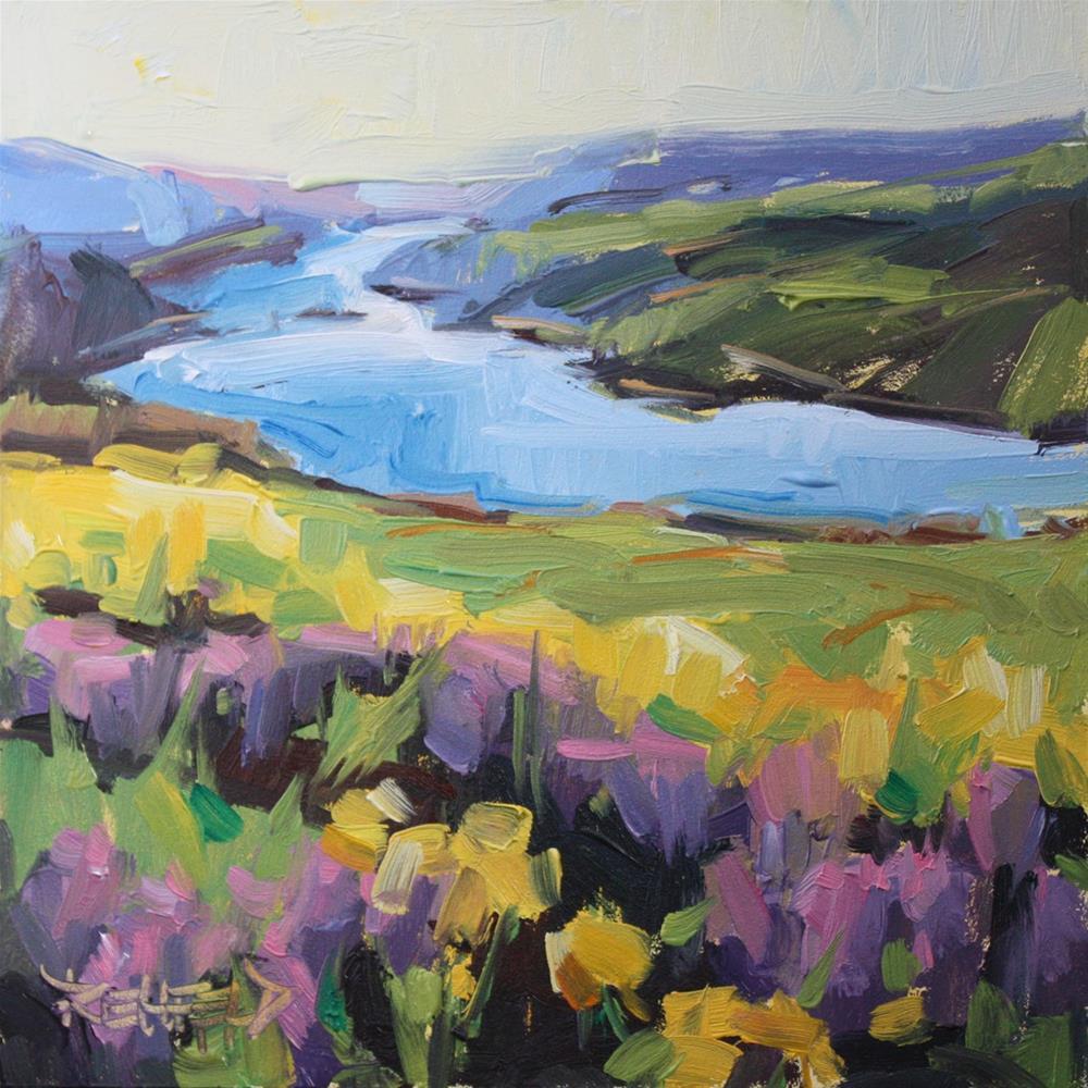 """Columbia Gorge Wildflowers"" original fine art by Cathleen Rehfeld"
