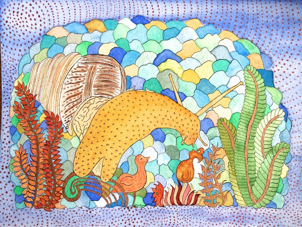 """Hail The Mighty Snail"" original fine art by Susan Medyn"