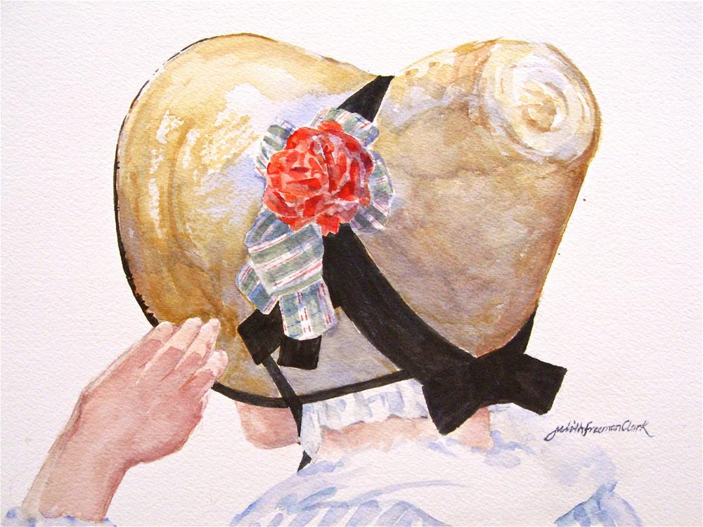"""New Bonnet"" original fine art by Judith Freeman Clark"