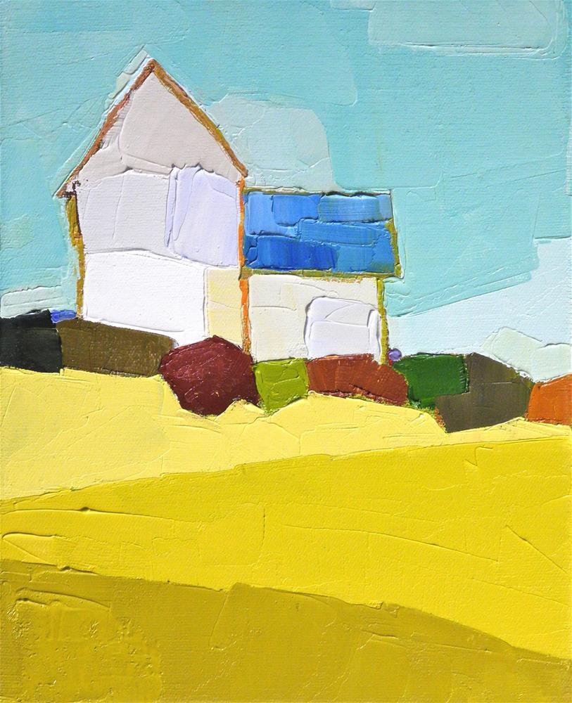 """Blue Roof"" original fine art by Donna Walker"